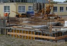 Construction du dépôt de stockage