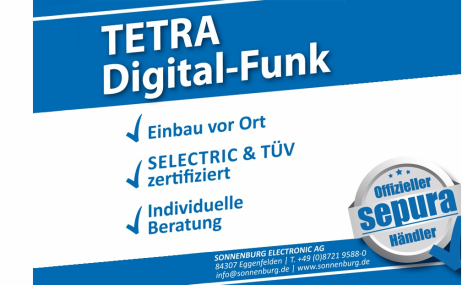 Umrüstung auf den neuen Digitalfunkstandard (Tetra)