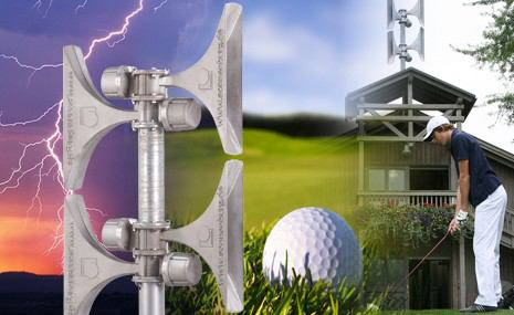 Perspėjimo sistema, skirta golfo kortams